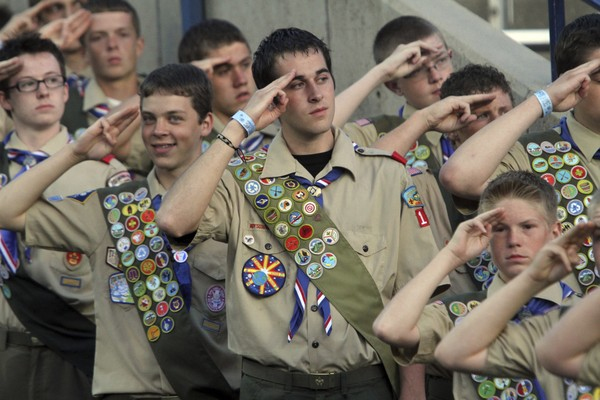 The Boy Scouts of America votes to admit girls