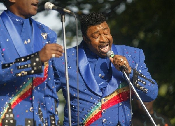 Dennis Edwards of the Temptations performs at Chevrolet Court during the 2004 New York State Fair in Syracuse, New York.