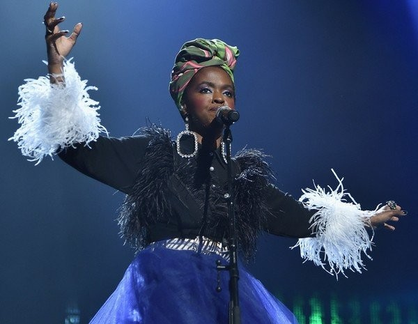 Lauryn Hill pays tribute to Nina Simone during the 33rd Annual Rock & Roll Hall of Fame Induction Ceremony.