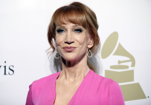 FILE - In this Feb. 11, 2017 file photo, comedian Kathy Griffin attends the Clive Davis and The Recording Academy Pre-Grammy Gala in Beverly Hills, Calif. (Photo by Rich Fury/Invision/AP, File)