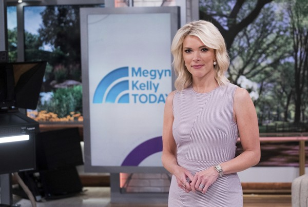 "Megyn Kelly poses on the set of her new show ""Megyn Kelly Today"" at NBC Studios on Thursday, Sept, 21, 2017, in New York. (Photo by Charles Sykes/Invision/AP)"