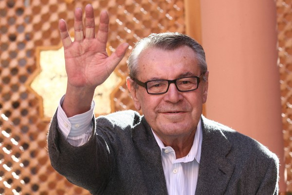 In this Dec. 8, 2007, file photo, Czech-born filmmaker Milos Forman, Jury President of the seventh Marrakesh Film Festival, poses during a photo call.