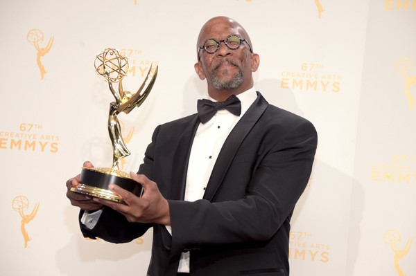 "Reg E. Cathey, shown here with an Emmy for guest actor in a drama for ""House of Cards"" in 2015, has died at the age of 59. (Jason Kempin/Getty Images, File)"