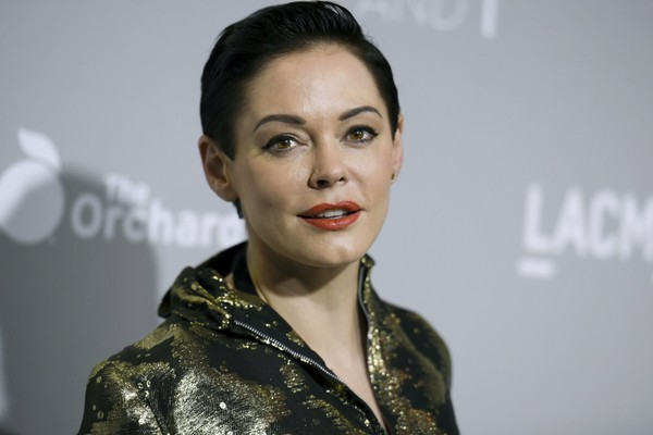 "In this April 15, 2015 file photo, Rose McGowan arrives at the LA Premiere Of ""DIOR & I"" held at the Leo S. Bing Theatre on Wednesday, April 15, 2015, in Los Angeles. (Photo by Richard Shotwell/Invision/AP)"