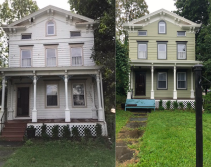Before the house was a bland white, but CertaPro Painters transformed it after a pro-bono project. (Courtesy Photo Bob Jamrog)