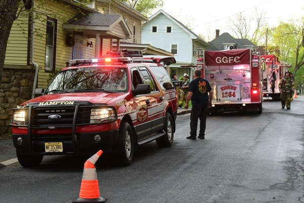 Firefighters responded to a Main Street house in Glen Gardner on May 3, 2018, for a report of an electric meter on fire. (Rich Maxwell | for NJ Advance Media)