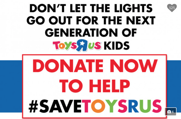 Would You Donate To Stop Toys R Us Closing A Gofundme Needs 800m