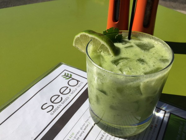 Avocado Cilantro Mockgarita from Seed was one of the drinks served at the Alcohol Free for 40 kick-off event at the NOLA.com offices.