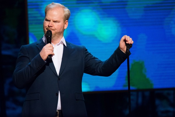 """Jim Gaffigan appears onstage at Comedy Central's """"Night of Too Many Stars: America Comes Together for Autism Programs"""" at the Beacon Theatre on Saturday, Feb. 28, 2015 in New York."""