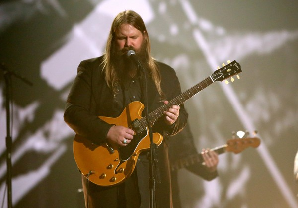 Chris Stapleton performs a tribute to B.B. King at the 58th annual Grammy Awards on Monday, Feb. 15, 2016, in Los Angeles.
