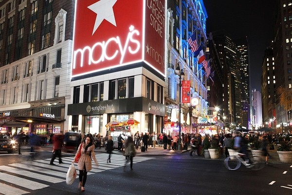 Shoppers are seen outside the Macy's at the corner of 34th Street and 6th Avenue in New York City in a file photo. (Lauren Long | llong@syracuse.com)