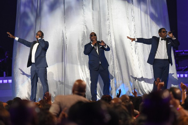 Boyz II Men perform at the 2015 Soul Train Awards at the Orleans Arena on Friday, Nov. 6, 2015, in Las Vegas.