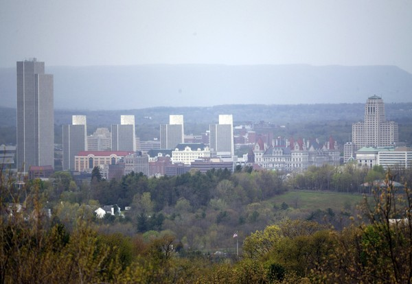 The Albany skyline is seen from North Greenbush, N.Y., on Friday, May 6, 2016.
