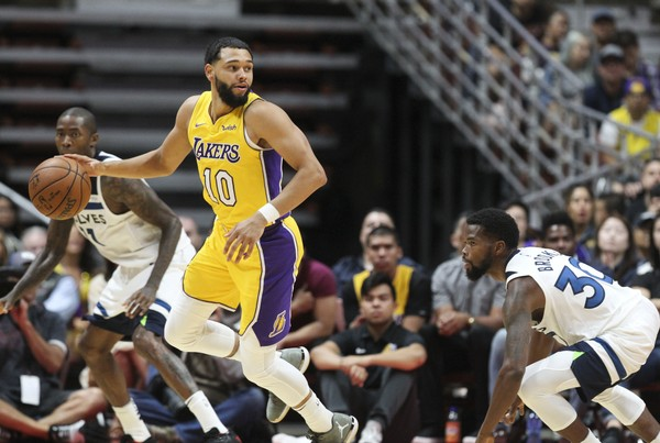 Tyler Ennis has had a solid preseason with the Lakers and finds himself in the best position to open a season in his career.