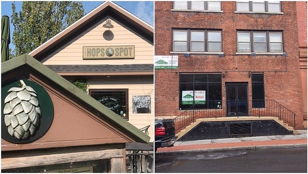 The Hops Spot, a beer, burger and poutine destination at 214 W. Main St. in Sackets Harbor (left), is relocating to 122 Walton St. in Syracuse's Armory Square.