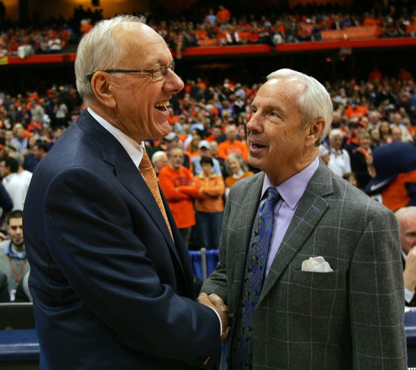 Syracuse coach Jim Boeheim and North Carolina coach Roy Williams will both have their players with them at the ACC's Operation Basketball on Oct. 25 in Charlotte, N.C.