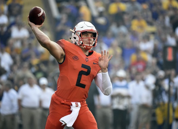 Syracuse football quarterback Eric Dungey started wearing a compression sleeve after absorbing the biggest beating of the season.