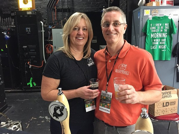 Susan and Dennis Edwards of Birdland Brewing Co. of Horseheads. They are closing the brewery Oct. 29.