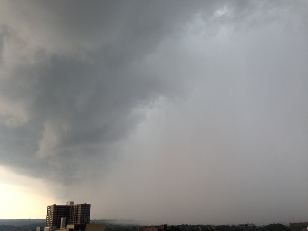 A storm approaches Syracuse in this June 2015 file photo. The National Weather Service said heavy rain is possible this weekend in Upstate New York.