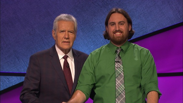 "Justin Vossler, a Moravia High School teacher, won five nights on ""Jeopardy!' in July 2017."