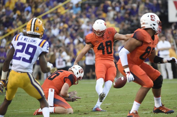 Syracuse kicker Cole Murphy was named a semifinalist for the Lou Groza Award on Thursday.