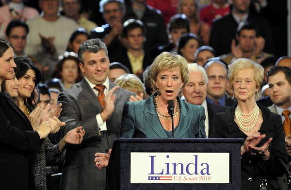 Linda McMahon addresses supporters after conceding to Richard Blumenthal in the race for a U.S. Senate seat in Connecticut on November 2, 2010. She is now administrator of the U.S. Small Business Administration. (Cloe Poisson/Hartford Courant/MCT)