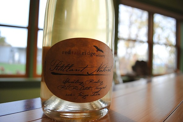 A 2016 Petillant Naturel -- a softly  sparkling wine -- from riesling grapes made by Red Tail Ridge Winery in the Finger Lakes.