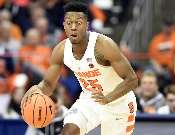 Syracuse guard Tyus  Battle (25) during a game against Cornell on Friday, Nov. 10, 2017, at the Carrier Dome. Dennis Nett | dnett@syracuse.com