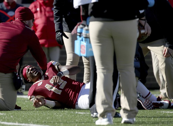 Boston College starting quarterback Anthony Brown is out for the season, the school announced Monday.