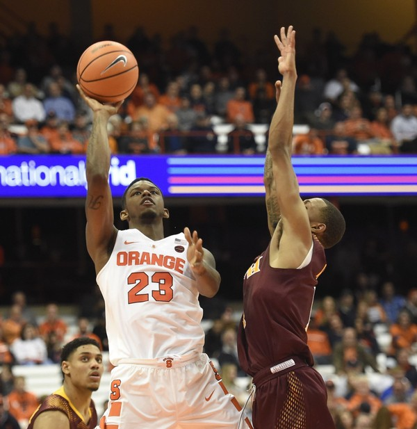 Syracuse junior Frank Howard scored a career-high 15 points in the Orange's win over Iona on on Tuesday at the Carrier Dome.
