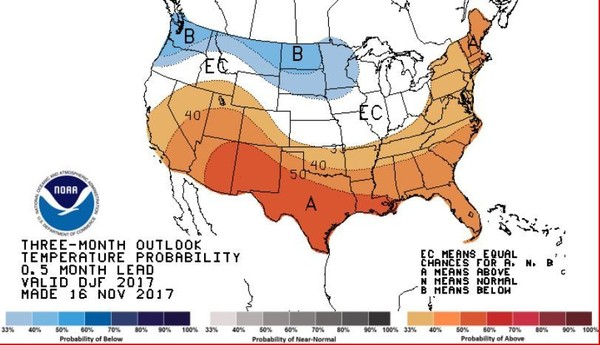 A warmer and wetter than usual winter is the most likely scenario for Upstate New York.