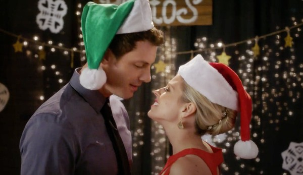 "Tilky Jones and Katrina Begin star in UP TV movie ""Second Chance Christmas,"" which filmed scenes in Syracuse."