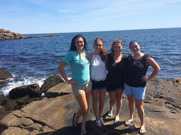 From left to right, Katie, Siobhan, Sarah and Shannon Conley on a family trip to Maine several years ago.