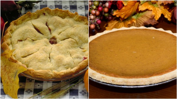 Apple pie vs. pumpkin pie. Which one is the best?