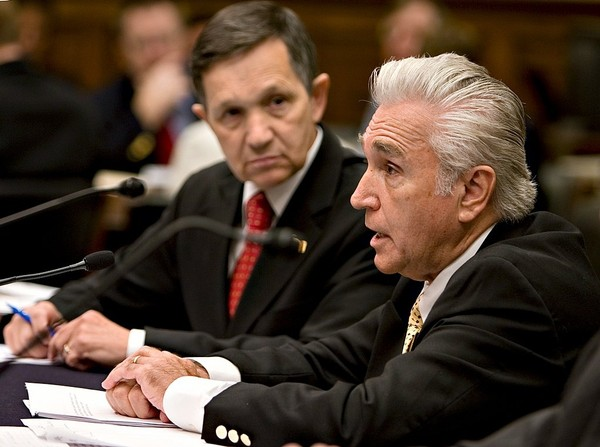 Rep. Maurice Hinchey, right, testifies on Capitol Hill in Washington in 2008.
