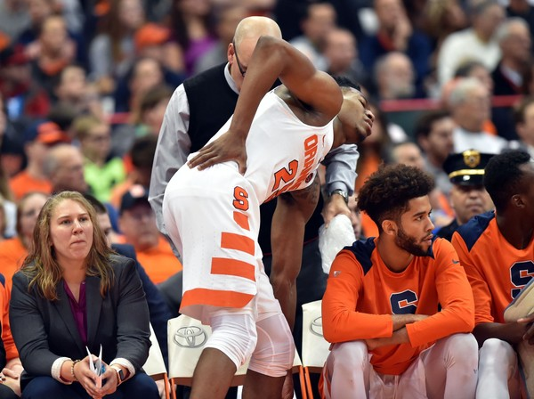 Tyus Battle practices with Syracuse basketball after back ...