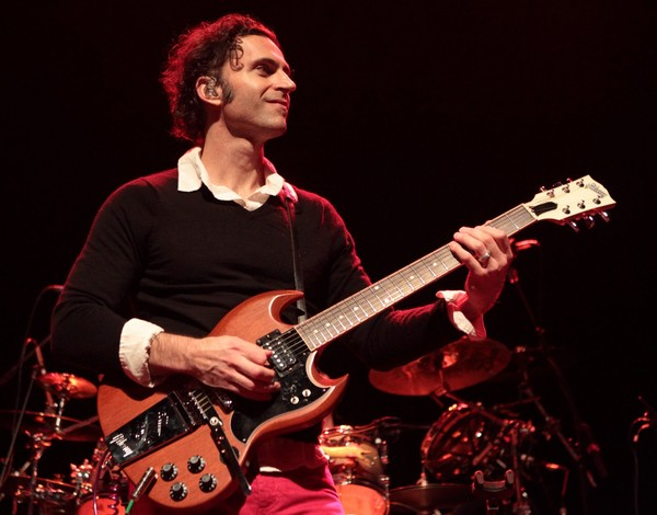 Musician Dweezil Zappa, son of Frank Zappa, performs with his band Zappa Plays Zappa at Rams Head Live on Wednesday, Feb. 6, 2013, in Baltimore.