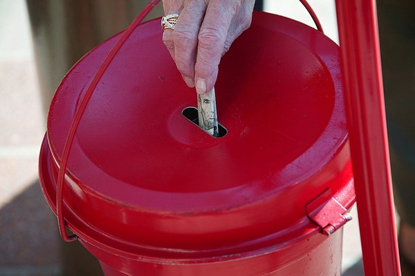 Someone stole a Salvation Army kettle and stand and roughly $500 in donations in Wallkill, N.Y., Salvation Army officials said.