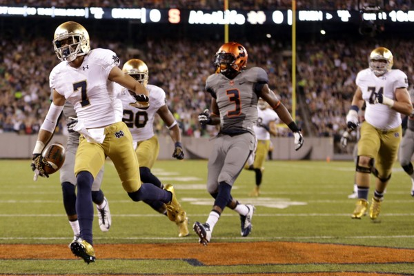 Syracuse football's 2018 game at Notre Dame has been moved to Yankee Stadium according to a report by The Athletic