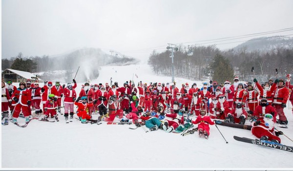 Whiteface Mt 480 Plus Adirondack Skiers Riders Dress As Santa And Mrs Claus Newyorkupstate Com
