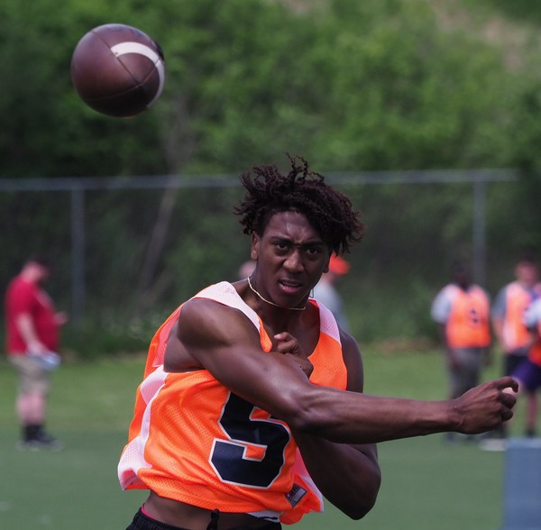 Houston quarterback commit Chance Amie is taking an official visit to Syracuse this weekend.