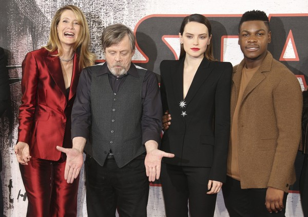 Star Wars: Princes attend The Last Jedi premiere
