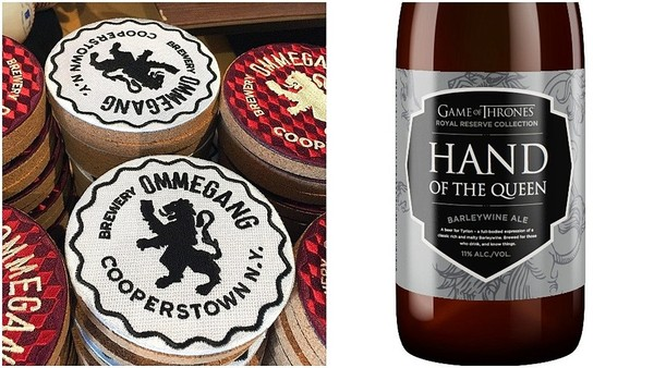 "The latest beer in the collaboration between Brewery Ommegang of Cooperstown, NY and the HBO TV series ""Game of Thrones"" is Hand of the Queen, a barleywine."