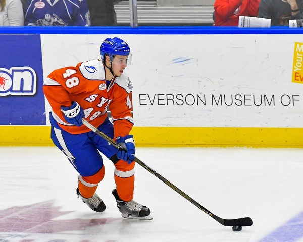 Forward Brett Howden, who played for the Syracuse Crunch at the end of last season, will skate for Canada in the upcoming World Juniors in Buffalo.