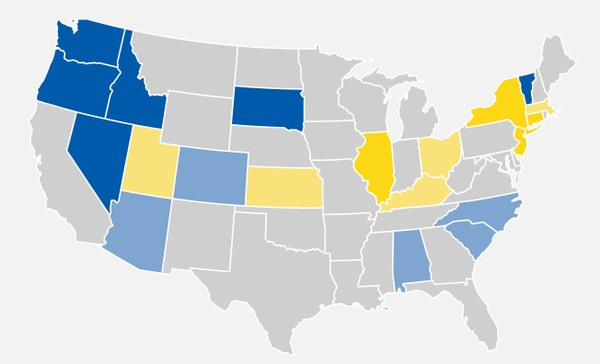Us Map According To New Yorkers.Study New Yorkers Continue To Flee State In Large Numbers
