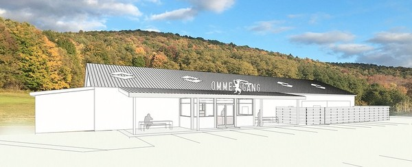 Rendering of the $2 million expansion underway at the Brewery Ommegang visitor's center and cafe just south of Cooperstown, N.Y.