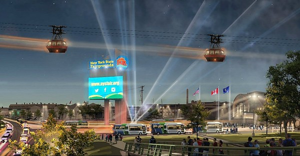 This rendering of what a $15 million gondola might look like was released by Gov. Andrew Cuomo's office last year.