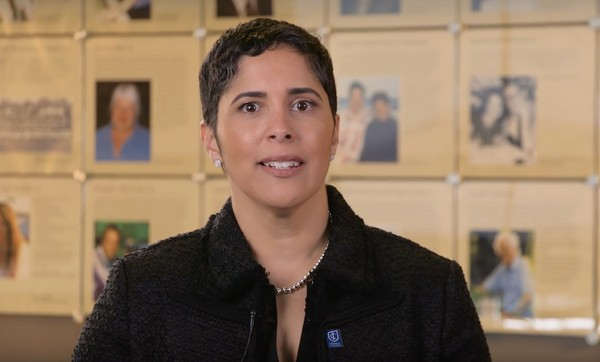 Ithaca College President Shirley M. Collado appears in a video on IC's official YouTube channel.(Video still)