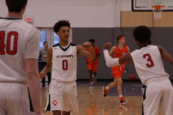 Syracuse basketball recruit Brycen Goodine (Class of 2019) plays against Vermont Academy in a game on Sunday, Jan. 21, 2018 at Cushing Academy.