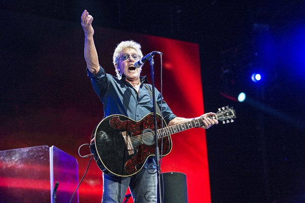 In this July 13, 2017, file photo, Roger Daltrey of The Who performs during the Festival d'ete de Quebec in Quebec City, Canada.